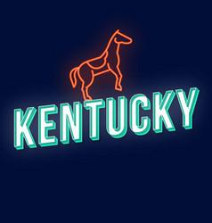 Kentucky vintage 3d lettering retro bold font vector