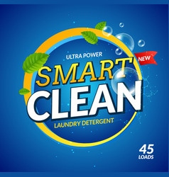 laundry detergent smart clean design cleaner wash vector image