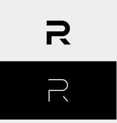 Letter r p rp pr logo design simple vector
