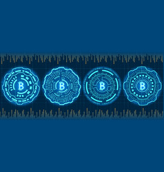 mining bitcoin crypto currency btc bit-coin vector image