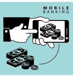 Mobile banking euro vector