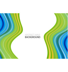 modern colorful wave wave acrylic color background vector image