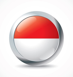 Monaco flag button vector