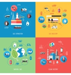 Natural gas industry concept vector