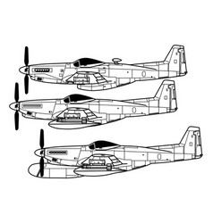 north american f-82 twin mustang vector image