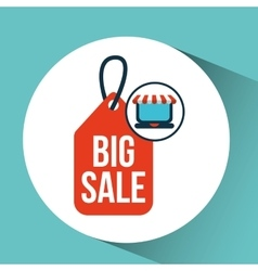 Online shopping big sale icon concept vector
