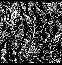 Paisley background vintage seamless pattern with vector