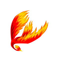 Phoenix flaming mythical firebird flying vector