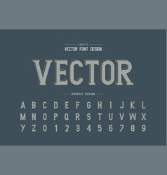Pixel font and alphabet writing style typeface vector