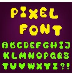 Pixel game font vector