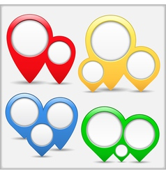 Pointers with Circles vector image