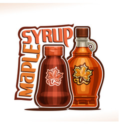 Poster for maple syrup vector