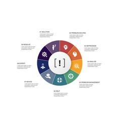 Problem infographic 10 steps circle design vector