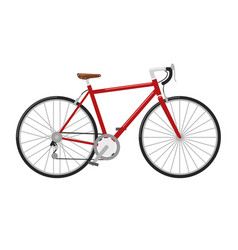 racing road bicycle high detailed vector image
