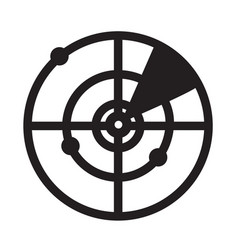radar solid icon on white background flat style vector image