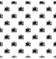 Retro TV pattern simple style vector