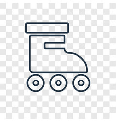 roller concept linear icon isolated on vector image