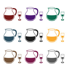sangria icon in black style isolated on white vector image