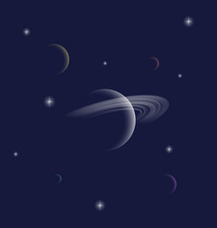 saturn planet abstract background or card vector image