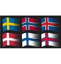 Scandinavian flags vector image