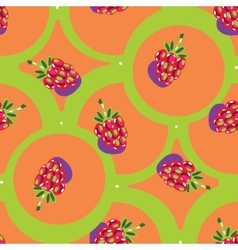 Seamless backgrounds with fruits vector