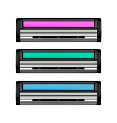 shaving cassette in on white background vector image