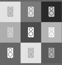 speaker sign grayscale vector image vector image