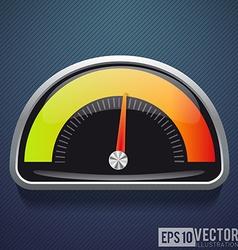Speedometer realistic icon speed vector image