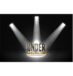 spotlight under construction 404 web error vector image