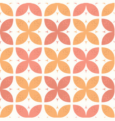 Stylised abstract orange coral flowers hand drawn vector