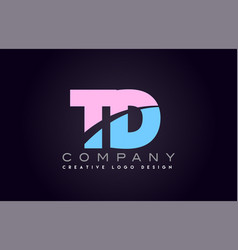Td alphabet letter join joined letter logo design vector