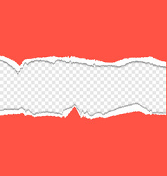 this is a red torn paper background vector image