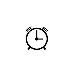 time sign alarm clock icon vector image