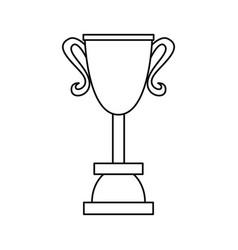 trophy award outline vector image