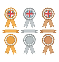uk gold silver bronze vector image