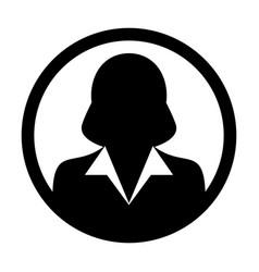 User icon female person symbol profile avatar vector