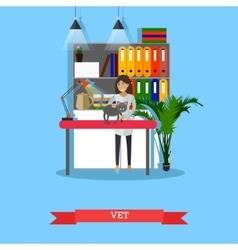 Vet Medical profession concept vector image