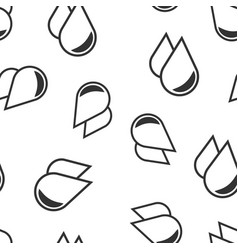water drop icon seamless pattern background vector image