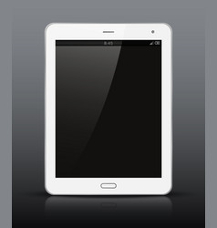 White tablet pc with black screen vector