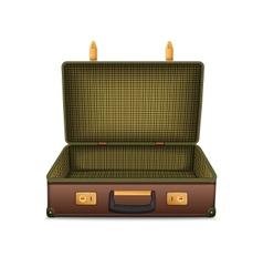 Empty retro suitcase isolated on white vector image