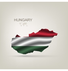 Flag of Hungary as a country vector image vector image