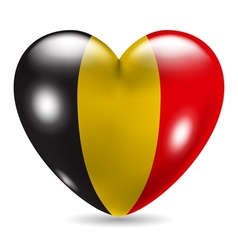 Heart shaped icon with flag of Belgium vector image