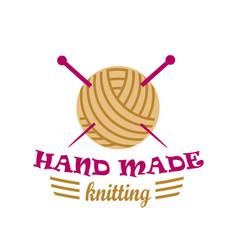 knitting logo elements vector image vector image