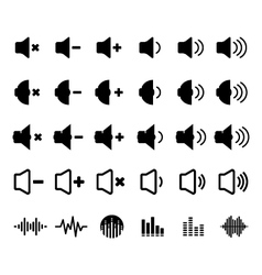 Sound and Equalizer Icon vector image
