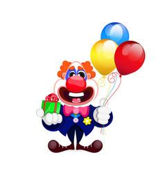 Cartoon beautiful clown vector