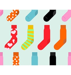 Colorful socks seamless pattern accessory clothing vector image vector image