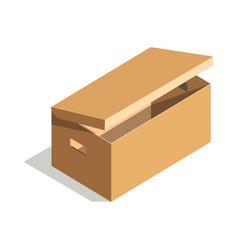 minimalistic cardboard box vector image