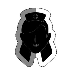 nurse avatar character icon vector image vector image