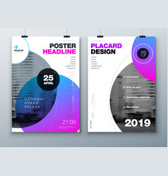 poster template layout design business poster vector image