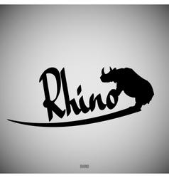 Rhino Calligraphic elements vector image vector image